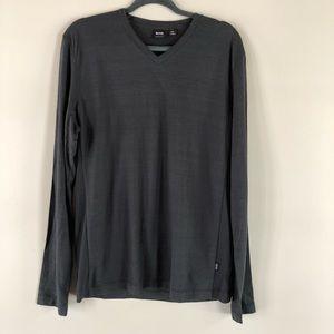 Hugo Boss like new long sleeve gray v-neck T-shirt